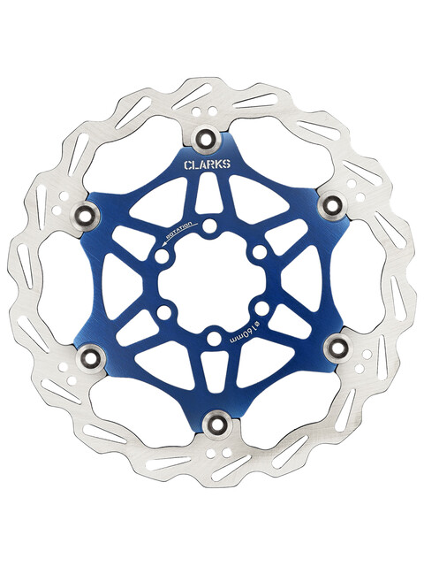 Clarks Lightweight Disc-Rotor jarrulevyt 6-reikäinen , sininen